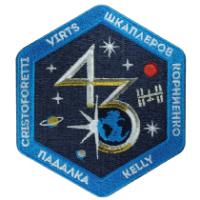 International Space Station Expedition 43 Embroidered Mission Patch